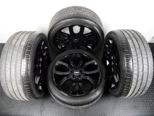 "Genuine OE Four 22"" Range Rover Vogue Style 504 Alloy Wheels With Continental Tyres"