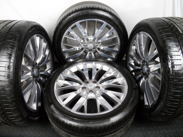 "Four Genuine OE 22"" Range Rover Sport SVR Style 108 Alloy Wheels with Tyres"