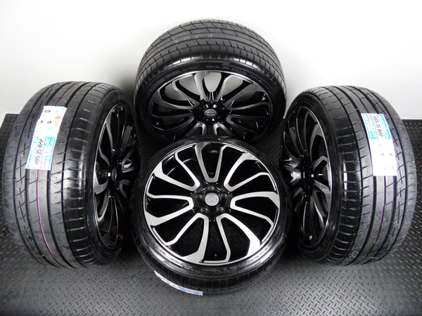"Four 22"" Turbine Alloy Wheels To Fit Range Rover / Sport With New Tyres"