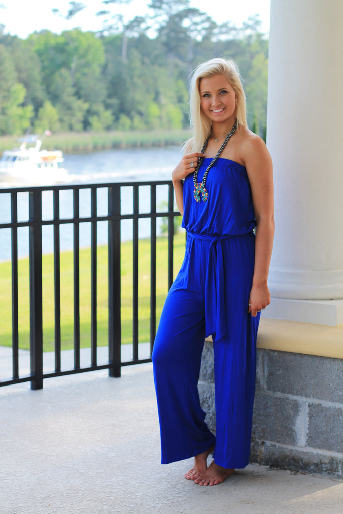 Belize in Blue Jumpsuit