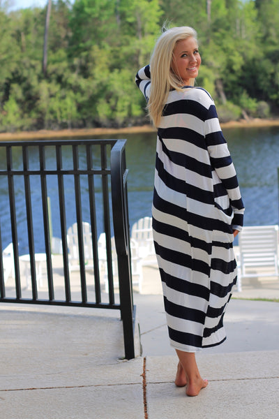 Nauti Navy Striped Summer Cardigan