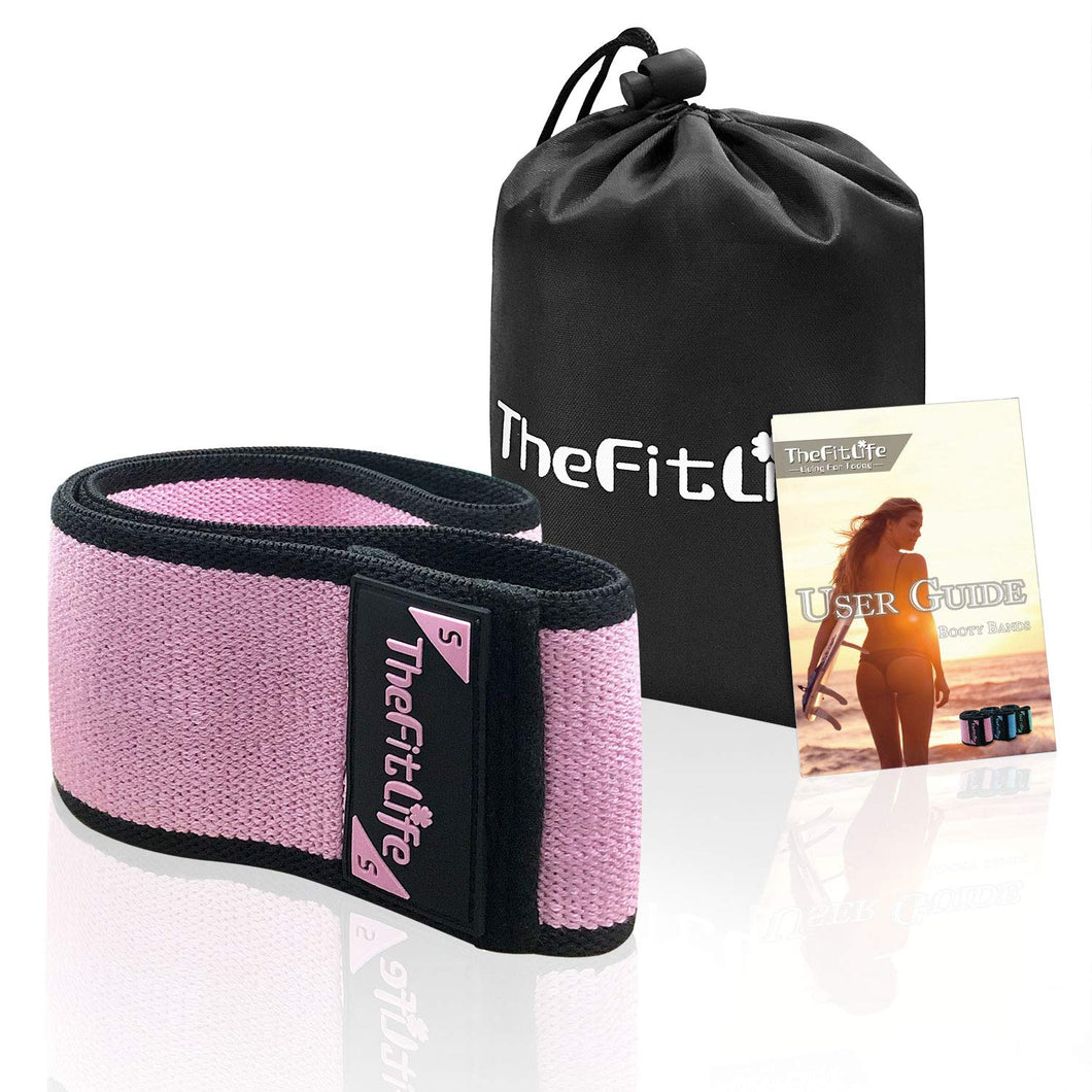 TheFitLife Resistance Bands for Legs and Butt - Cotton Mini Exercise Bands Circle for Booty, Hip, Glute Workout, Anti-Break, Non-Rolling and Non-Slip Wide Fitness Loop Training Bands