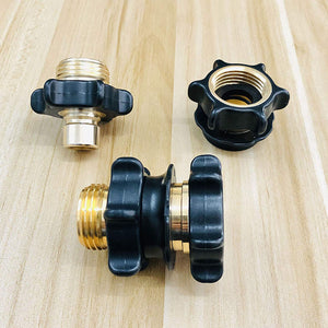 TheFitLife Flexible and Expandable Garden Hose - Quick Connector, 2 Set 3/4 Inch Garden Hose Fitting Quick Connector Adapter Male and Female
