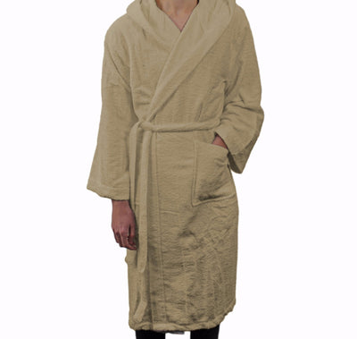 Frette Hooded Beige Bathrobe