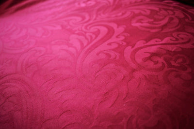 Super King Burgundy Jacquard Quilt Cover Set