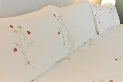 Roses Embroidered Quilt Cover Set