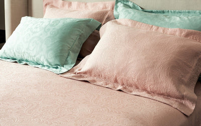 Rose Pink Matelasse quilted bedspread coverlet