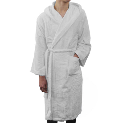 Frette Hooded White Bathrobe