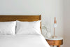 Eden White Percale Flat Sheet Set