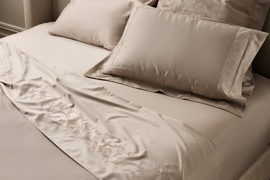 Taupe Egyptian Cotton Fitted Sheet Set