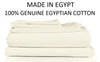 Off White Egyptian Cotton Fitted Sheet Set