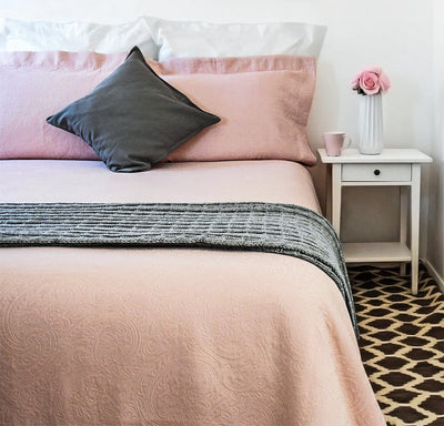 Pink Coverlet in Super king size and other sizes too