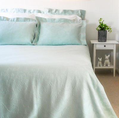 Light Green Egyptian Cotton Bedspread