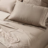 Taupe Egyptian Cotton Flat Sheet Set