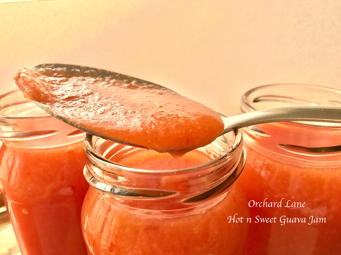 Hot and Sweet Guava Jam - 80% Fruit- 280 grams- No Preservatives or colours