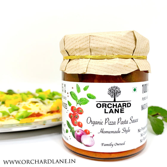 Organic Pizza & Pasta Sauce - No Added Sugar - with 95% Tomatoes, fresh basil and parsley