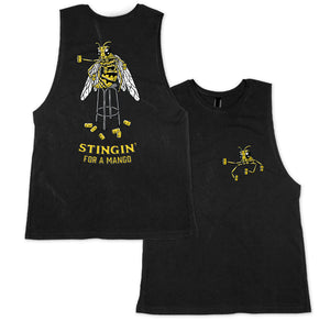 Stingin Muscle Tee Black