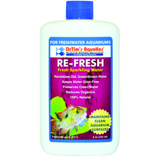 Dr Tim's Aquatics - Re-Fresh - Natural Sparkling Water for Freshwater - 120ml Treats 908L