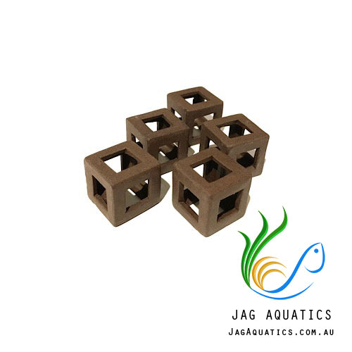 Jag Aquatics - Shrimp Block Shelters - Light Brown ( Quantity 5 ) - JagAquatics
