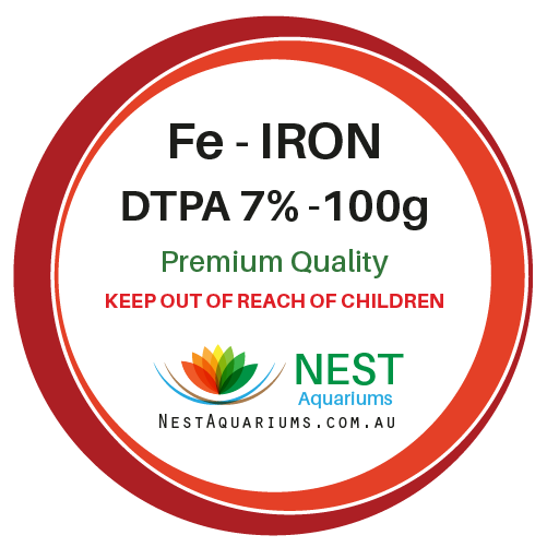 NEST - Iron Chelate Fe DTPA 7% - Dry Aquarium Fertilizers - 100g