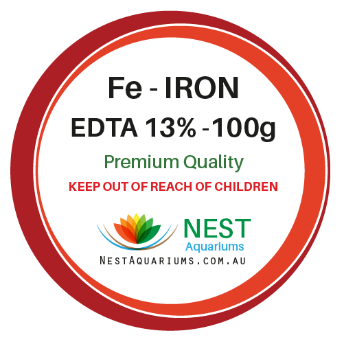Iron Chelate Fe EDTA  - Dry Aquarium Fertilizers - 100g