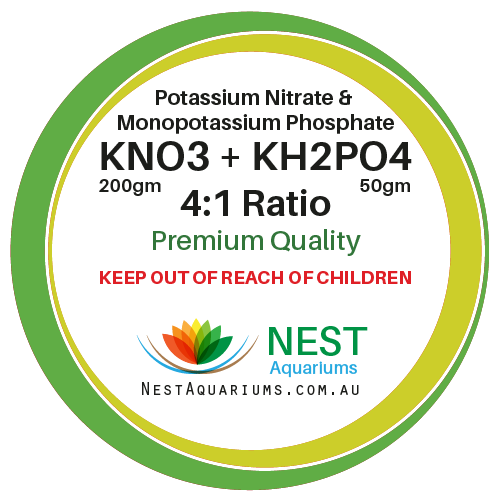 NEST - Potassium Nitrate Mix With Mono Potassium Phosphate - Dry Aquarium Fertilizers - 250g - JagAquatics