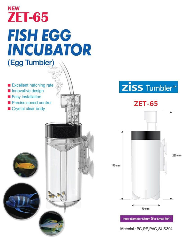 ZET-65 Ziss Fish Egg Tumbler - JagAquatics