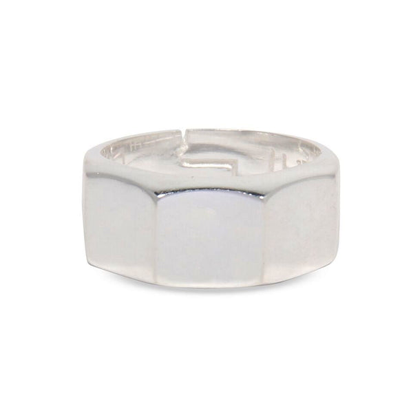 3 Square Silver Ring