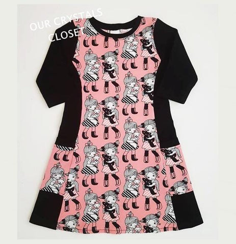Our Crystals Closet Dresses Girls And Kitties Pocket Dresses Handmade