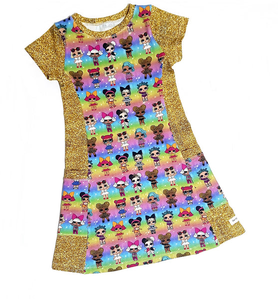Our Crystals Closet Dresses Pocket Dresses Sizes 3M-12 MADE TO ORDER