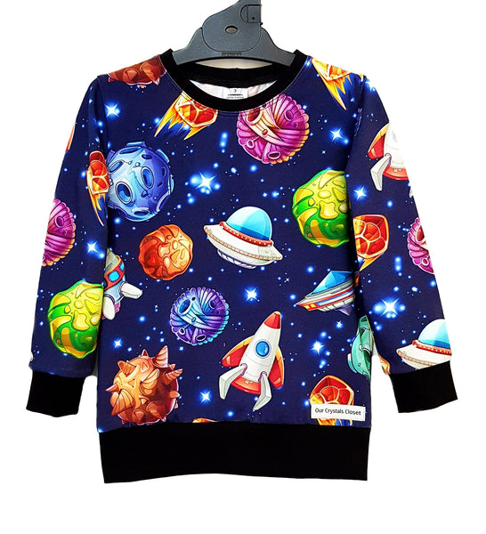 Our Crystals Closet Jumpers Cotton Lycra Jumpers Sizes 0-12 MADE TO ORDER