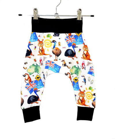 Our Crystals Closet Pants Dropped Crotch Harem Pants Sizes NB-12 MADE TO ORDER