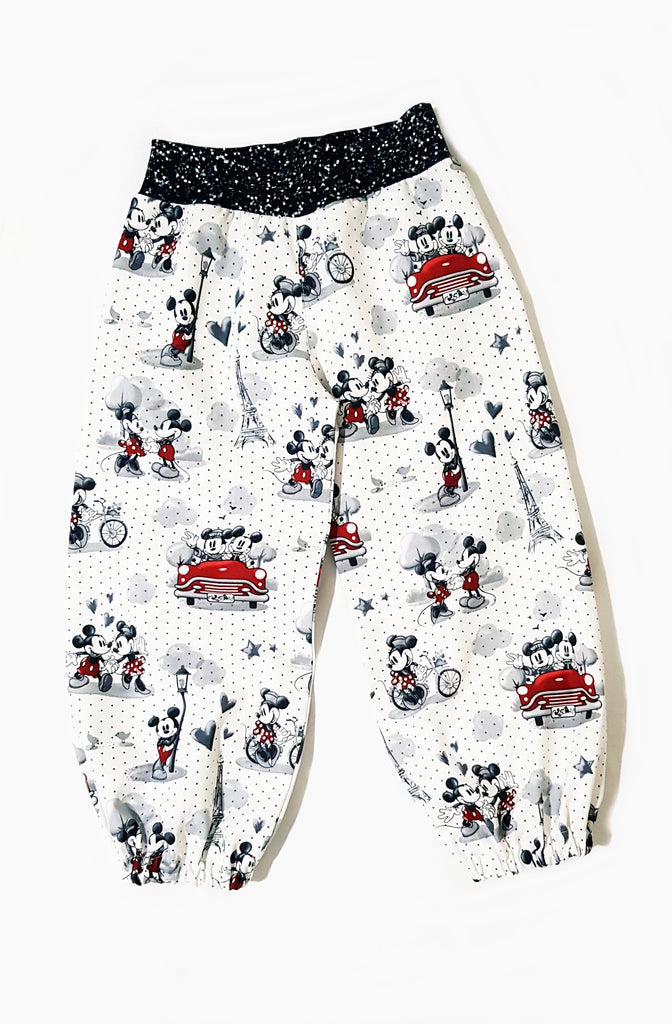 Our Crystals Closet Pants Minnie and Mickey Mouse Harem Pants Size 2 Handmade