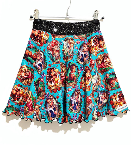 Our Crystals Closet Skirts Skater Skirts Sizes 2-12 MADE TO ORDER