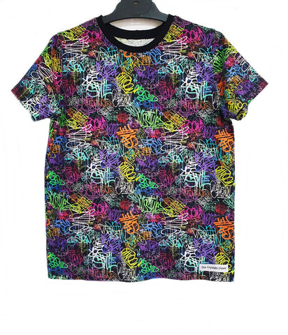 Our Crystals Closet Tops, Shirts & T-Shirts Graffiti Scribble Tee Handmade (CUSTOM ORDER BREE ROACH)