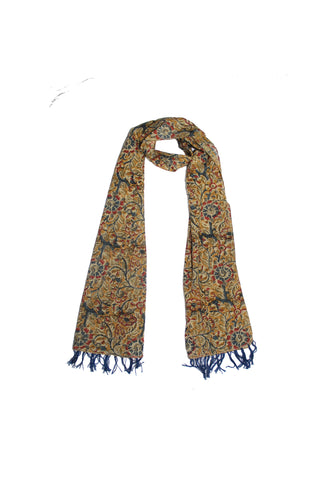 Scarf - Kalamkari - Flowers Green (SON0123)