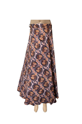 Wrap Skirt - Bulbs Blue (KK1009)