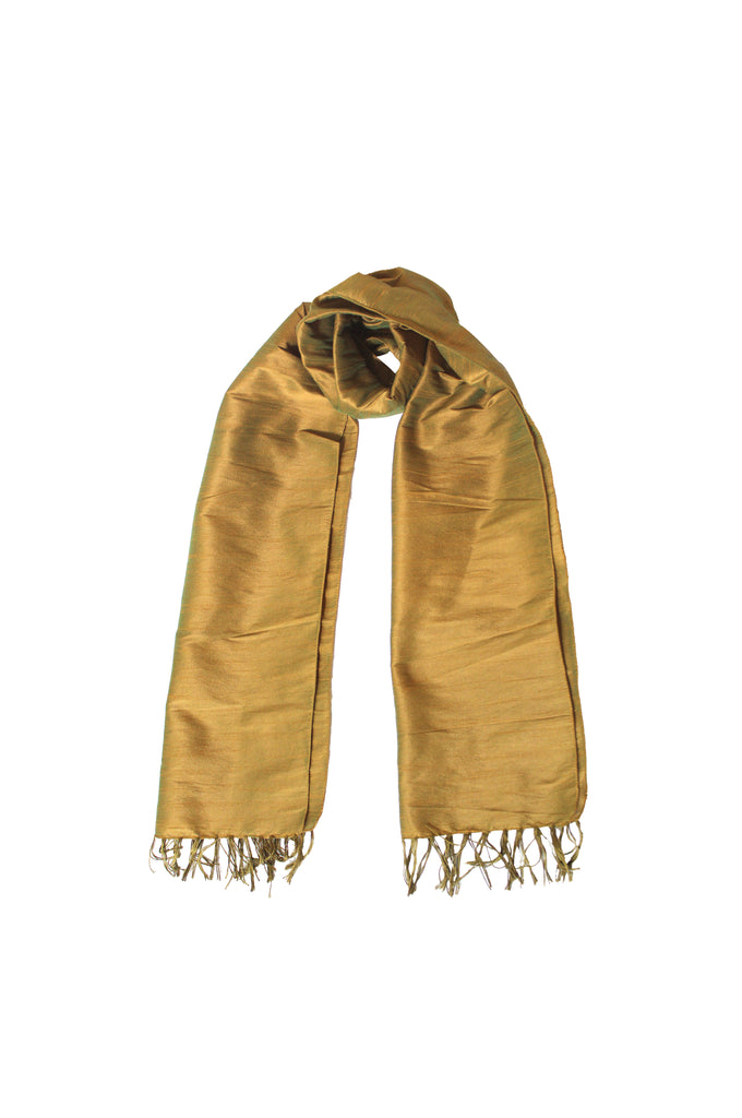 Scarf - Cotton, Art Silk -Gold- SK0005