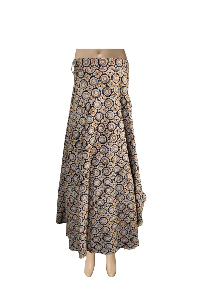 Wrap Skirt - Circles Beige(KK1012)
