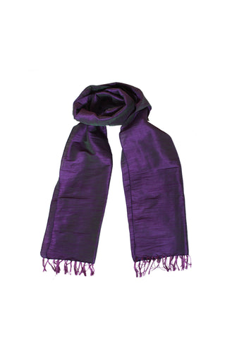 Scarf - Cotton, Art Silk -Violet- SK0006