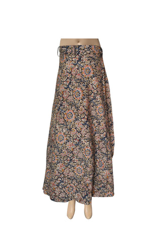 Wrap Skirt - Flowers Black (KK1010)