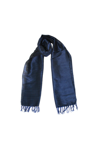 Scarf - Cotton, Art Silk -Blue- SK0003