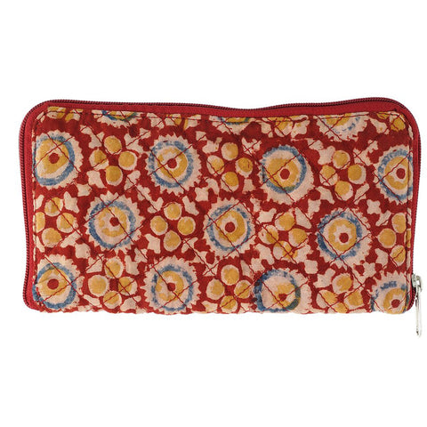 Wallet- Kalamkari - Red (105-2) - KK2051