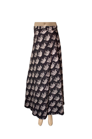 Wrap Skirt - Elephants Black(KK1013)