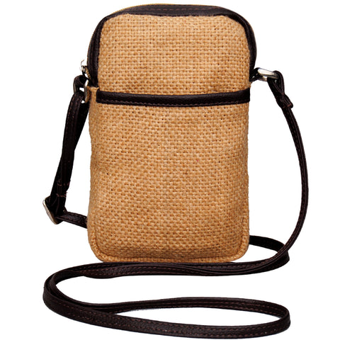 Cell Phone Bag Jute - Natural (KK1158)