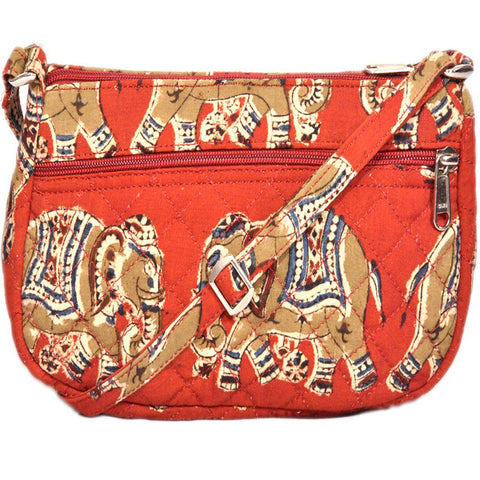 KK2182 - Fairy Cotton Bag - Red Elephants