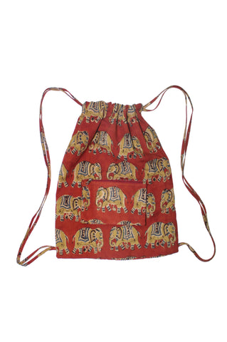Backpack - Elephants Red-KK1308
