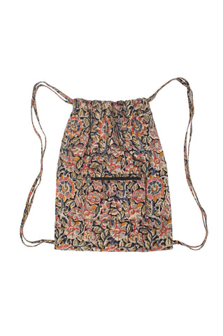 Backpack - Flowers Black - KK1306