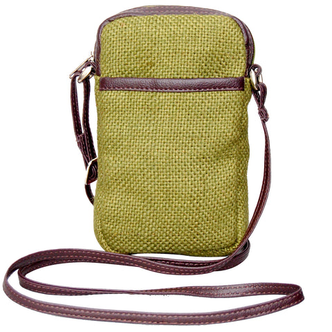 Cell Phone Bag - Jute - Green (KK1159)