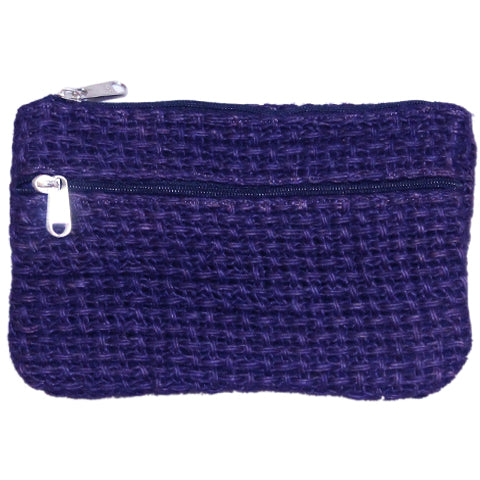 Coin Purse - Two Zipper - Jute Net - Violet (KK2210)